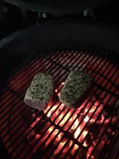 Tuna on grill